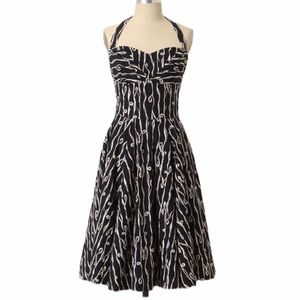 Anthropologie Girls From Savoy Traced Twirl Dress